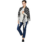 Susan Graver Reversible Wrap with Fringe - A285451