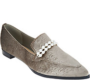 Marc Fisher Velvet Slip-On Loafers - Kneel - A297951