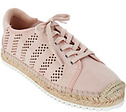 Marc Fisher Perforated Espadrille Lace- up Sneakers- Baila - A303051