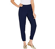 Isaac Mizrahi Live! Regular Pebble Knit Jogger Pants - A303251
