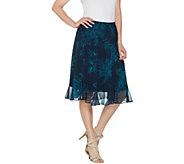 Susan Graver Printed Sheer Chiffon Skirt - A308251