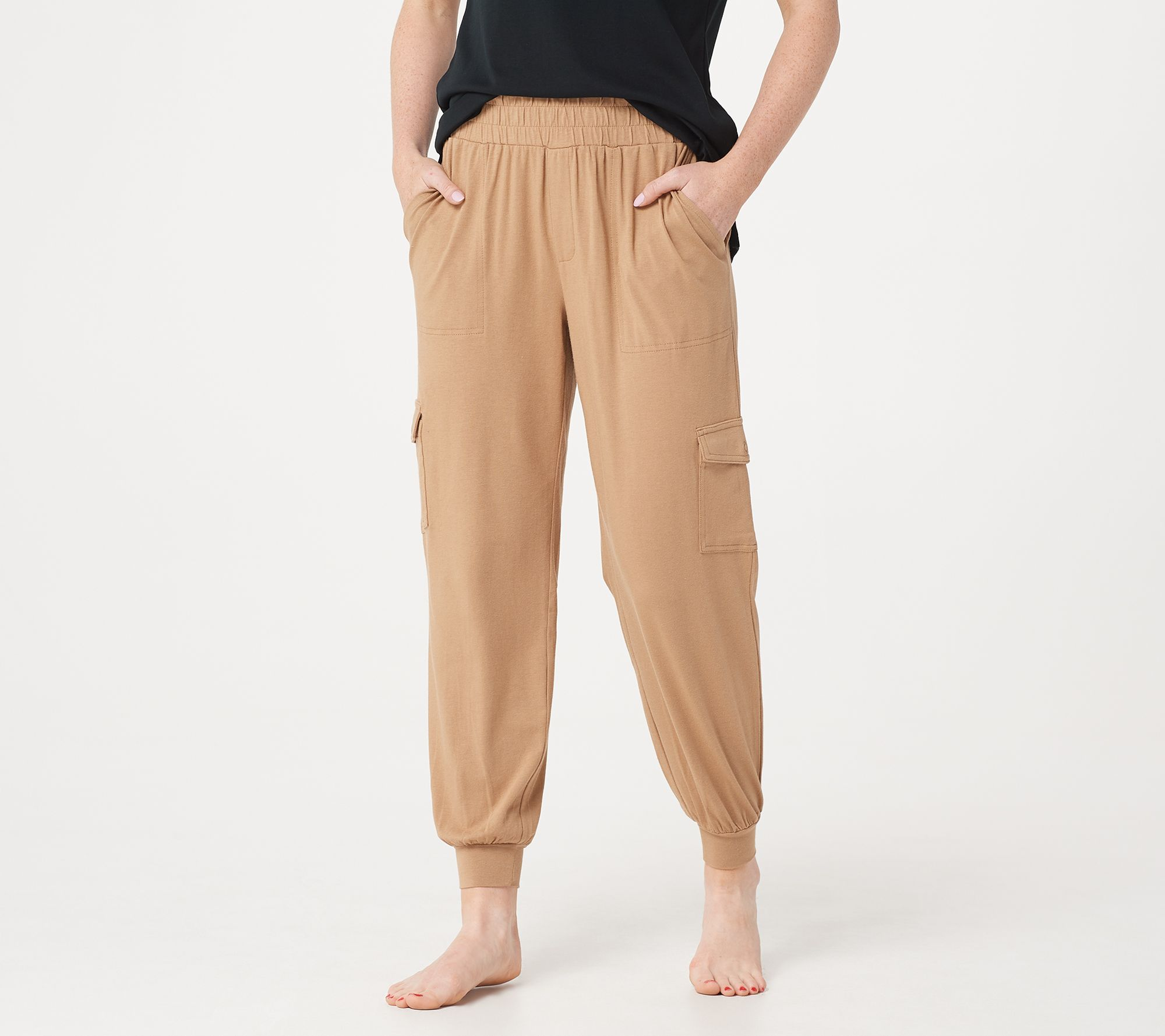 adf7b937fa0b5 AnyBody Loungewear Cozy Knit Cargo Jogger Pants with Pockets - Page 1 —  QVC.com