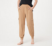 AnyBody Loungewear Cozy Knit Cargo Jogger Pants with Pockets - A310051