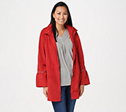 Dennis Basso Water Resistant Hooded Anorak with Embellishment - A346651