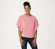 Belle by Kim Gravel TripleLuxe Knit Butterfly Top with Trim - A350451