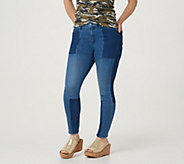 Martha Stewart Petite Seamed Panel 5-Pocket Ankle Jeans - A351151