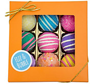 Fizz & Bubble Fruit & Floral Bath Truffles - Set of 9 - A363351