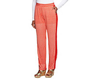 Susan Graver Heavy Liquid Knit Slim Leg Printed Pull-on Pants - A252252
