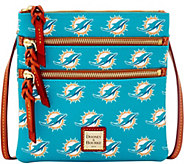Dooney & Bourke NFL Dolphins Triple Zip Crossbody - A285652