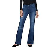 Women with Control Petite My Wonder Denim Patchwork Boot Cut Jeans - A298552