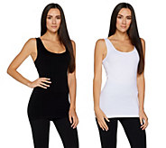 skinnytees Seamless Layering Tank Set of Two - A300552