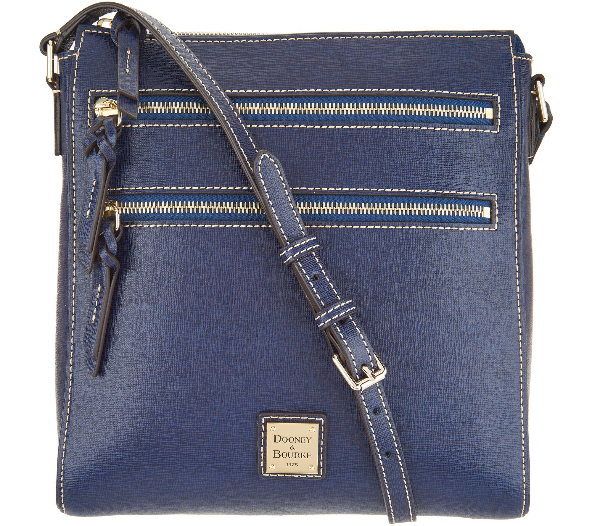 333fa50b5c Dooney   Bourke Saffiano Leather Triple Zip Crossbody Handbag - Page 1 —  QVC.com