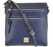 Dooney & Bourke Saffiano Leather Triple Zip Crossbody Handbag - A305052
