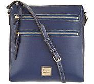 Dooney & Bourke Saffiano Leather Triple Zip Crossbody Handbag - A305052