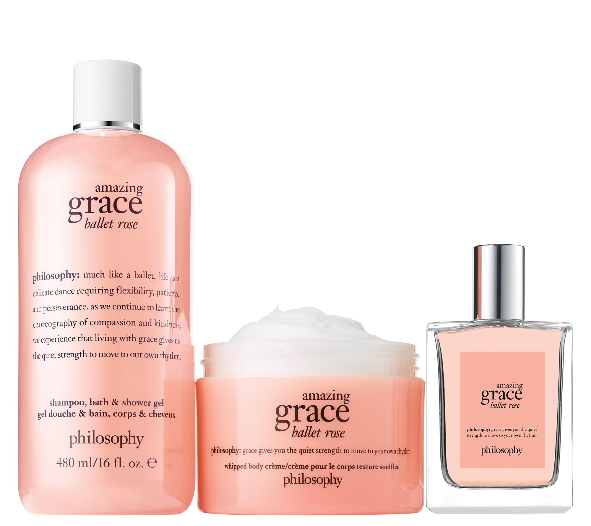 cd3fb7c87b philosophy graceful roses luxurious fragrance layering trio - Page 1 —  QVC.com