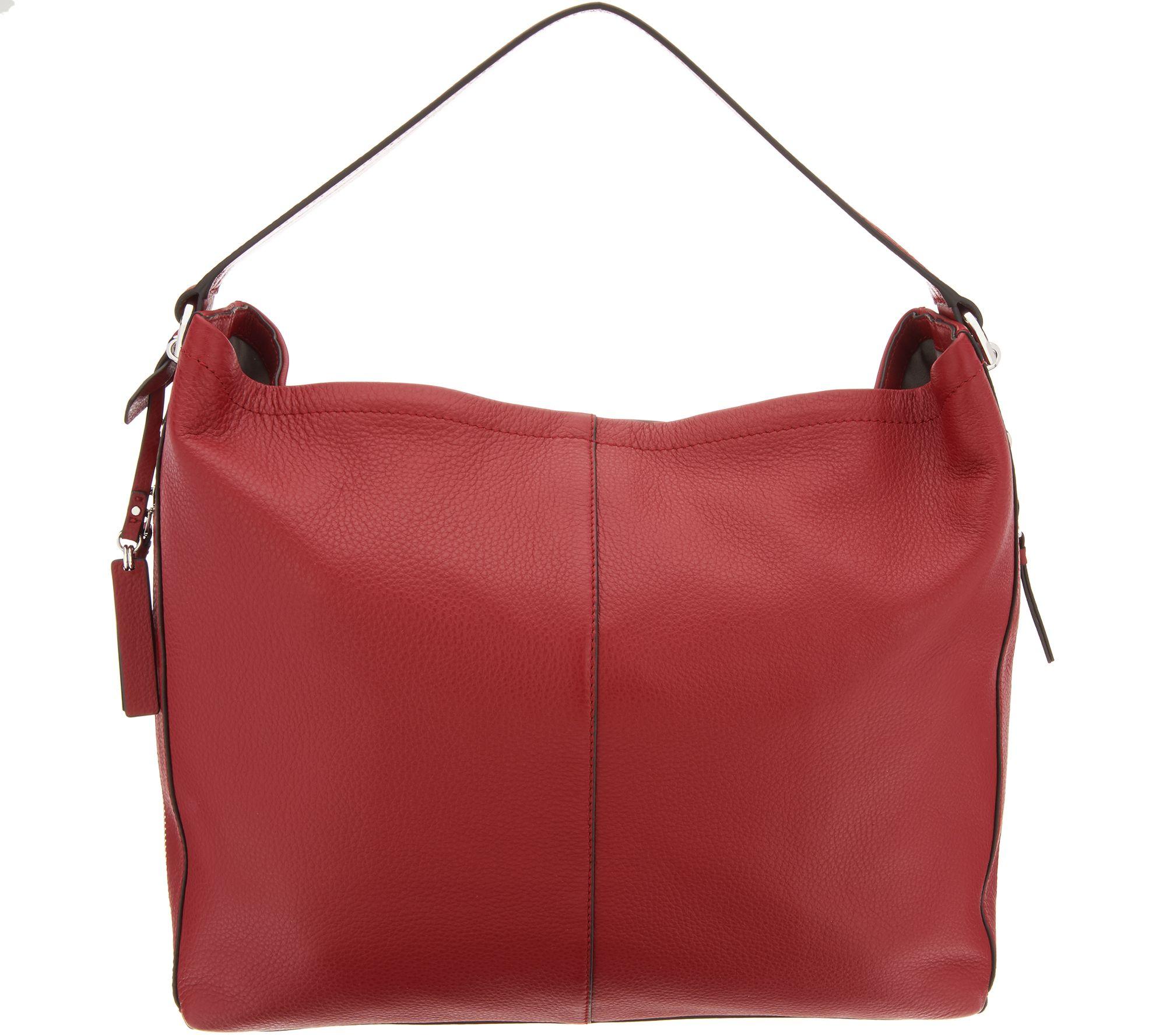 9961f1e020 Vince Camuto Leather Hobo Handbag - Leany - Page 1 — QVC.com