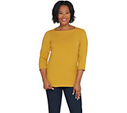 Denim & Co. Essentials Perfect Jersey Square Neck 3/4-Sleeve Top - A309452