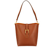 As Is Dooney & Bourke Emerson Leather Shoulder Bucket Handbag-Brynn - A343352