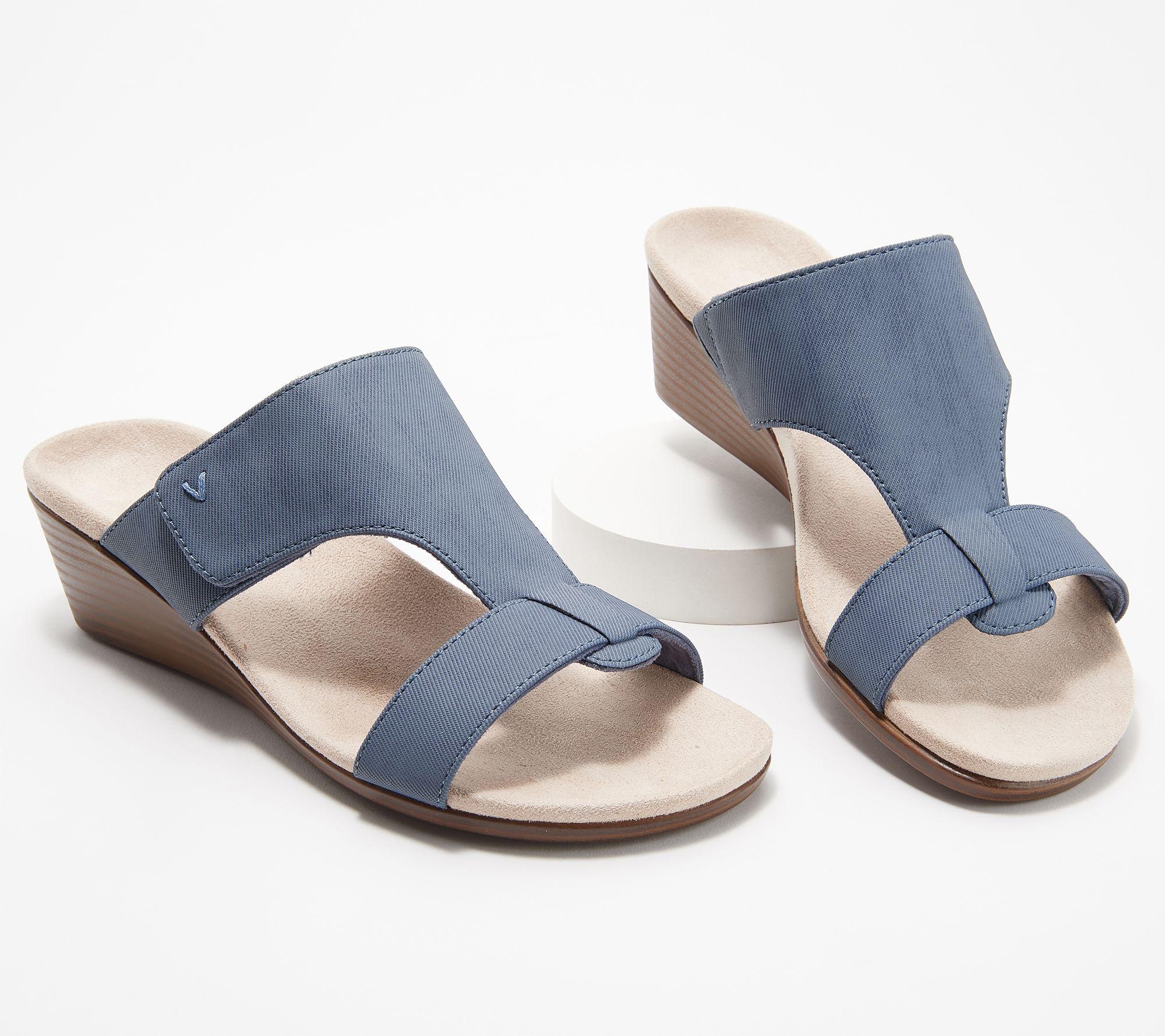 Adjustable Slide Sandals Vionic Wedge Regina SVpLUGqzM