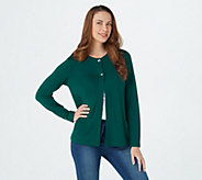 Denim & CO. Essentials Heavenly Jersey Cardigan with Pockets - A347352