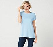 Isaac Mizrahi Live! Essentials Pima Cotton Forward Seam T-Shirt - A349952