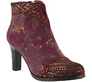 L`Artiste by Spring Step Leather Ankle Boots -Lidia - A360152