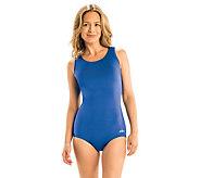 Dolfin Aquashape Solid Conservative Lap Swimsuit - A423952