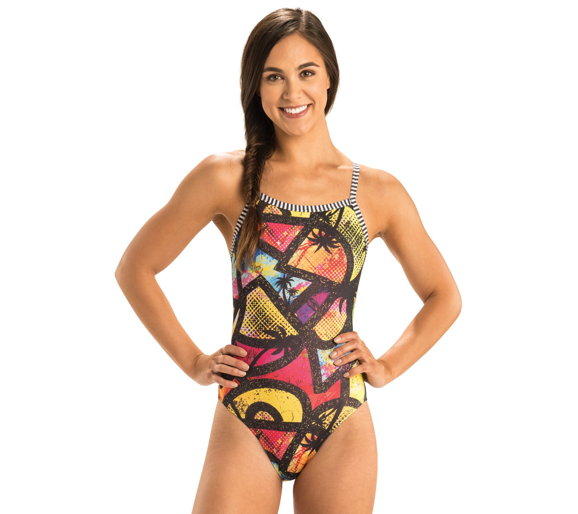 b0d431f15eb39 Dolfin Women's Uglies V-2 Back Printed One-Piece Swimsuit — QVC.com