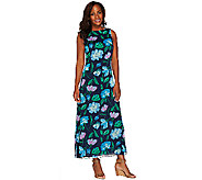 Liz Claiborne New York Regular Floral Print Maxi Dress - A263453