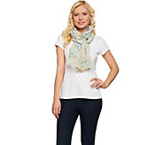 Denim & Co. Spring Floral Printed Scarf 28 x 72 - A274553