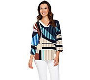 Kelly by Clinton Kelly Relaxed V-Neck Blouse - A276353
