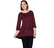 Belle by Kim Gravel Sequin Tunic with High Low Hem - A282053