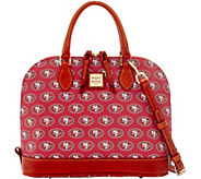 Dooney & Bourke NFL 49ers Zip Zip Satchel - A285753