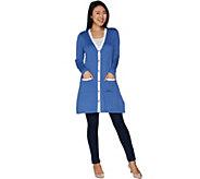 Susan Graver Rayon Nylon Polyester Button Front Duster - A301153