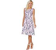 Isaac Mizrahi Live! Special Edition Floral Jacquard Dress - A301953