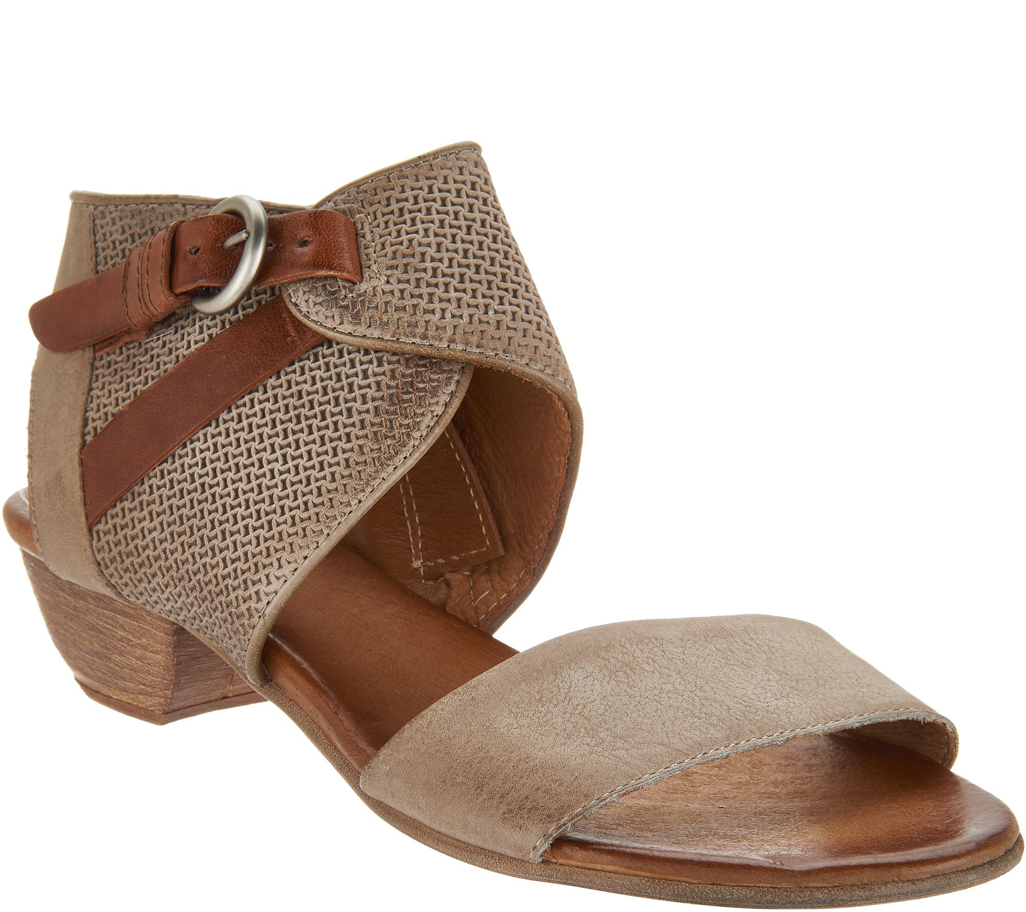 a8c78e7f831e Miz Mooz Leather Buckle Sandals - Cheerful - Page 1 — QVC.com