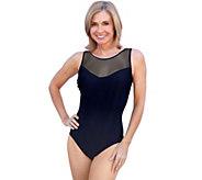 Carol Wior Slimsuit Neptunes Net Mesh High-NeckTank - A339353