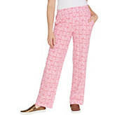 Belle by Kim Gravel TripleLuxe Knit Ikat Print Pull-On Pant - A347153