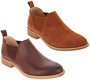 Clarks Leather or Suede Slip-on Booties - Edenvale Page - A365453