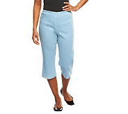 Denim & Co. How Timeless Stretch Capri Pants w/Front Pockets - A50253