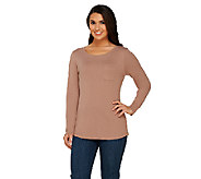 Liz Claiborne New York Essentials Long Sleeve Tee with Pocket - A261254