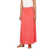 Susan Graver Weekend Cotton Modal Gored Maxi Skirt - A265854