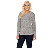 Isaac Mizrahi Live! Medallion Quilted Sweater - A269554
