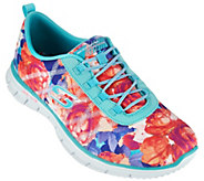 Skechers Floral Stretch-fit Bungee Sneakers - Glider Posies - A277954
