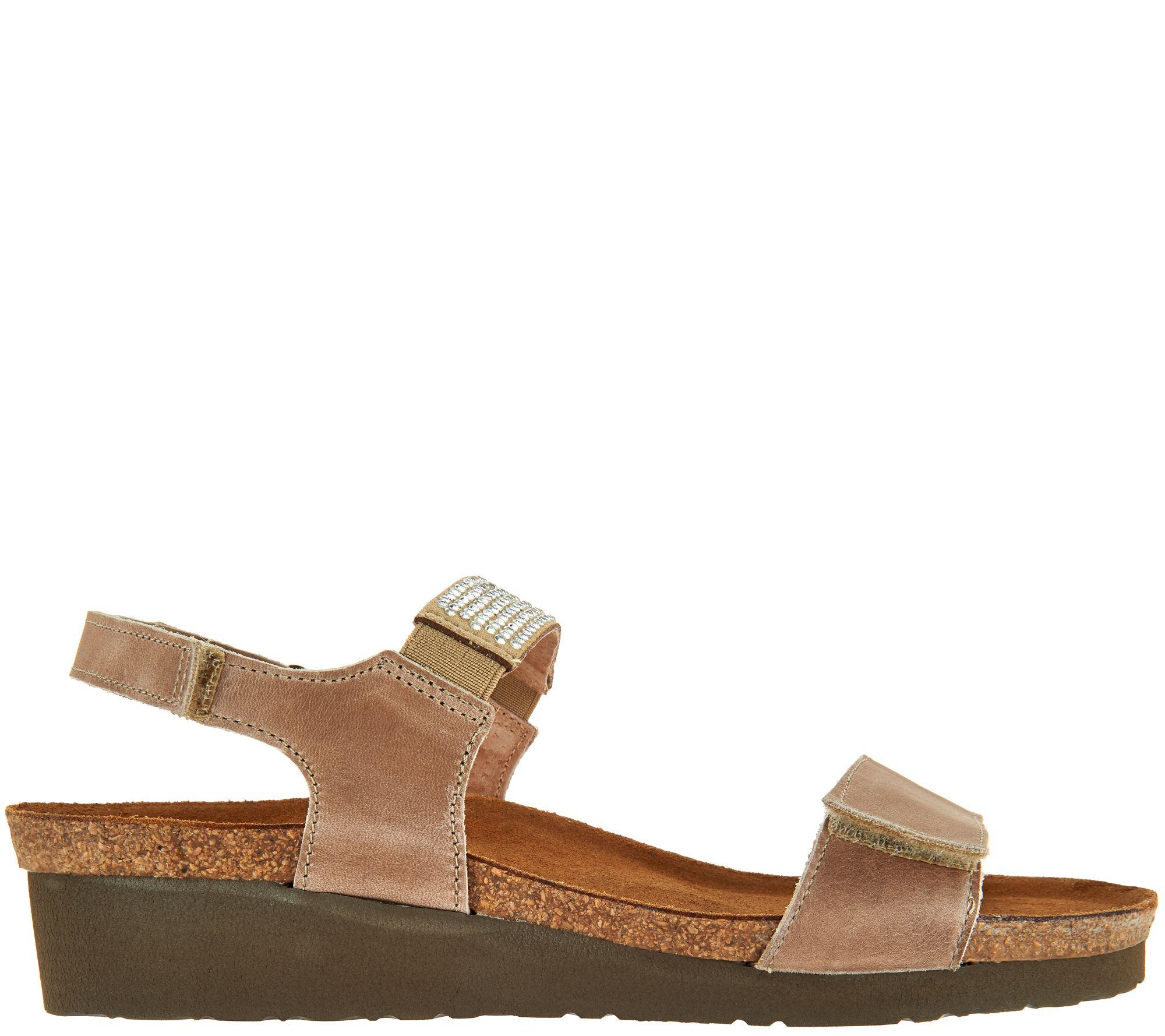04844dafff5b Naot Leather Embellished Sandals - Lisa - Page 1 — QVC.com