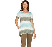 LOGO by Lori Goldstein Print Tie Dye Knit Top with Pockets - A288854
