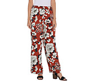 Laurie Felt Wide Leg Printed Woven Pants - A309554