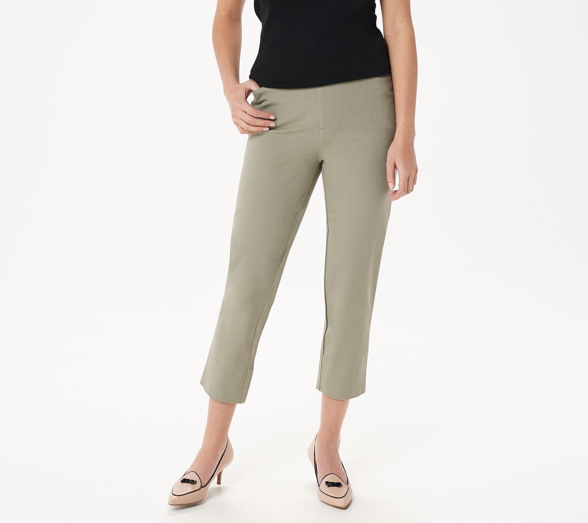 367d75bdf Isaac Mizrahi Live! Regular 24/7 Stretch Crop Pants with Back Slit ...