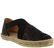 Azura by Spring Step Sequin and Leather Espadrilles - Della - A357154