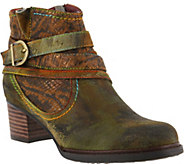 L`Artiste by Spring Step Leather Booties - Shazzam - A360154